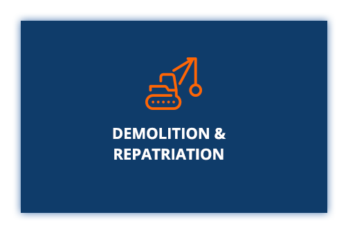 Demolition and repatriation